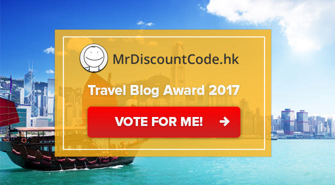 Banners for Mr. Discountcode Travel Blog Award 2017